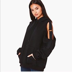 NWT🎈LF oversized cut out shoulders hoodie